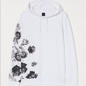 H&M Mens White/Roses Sweatshirt